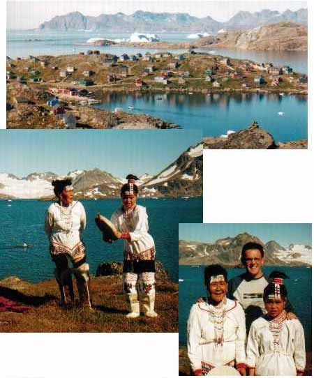 Traditional costume, dance and qajaq in Kulusuk, East Greenland